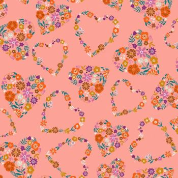 Dashwood Studios - Good Vibes 100% Cotton Fabric - Hearts