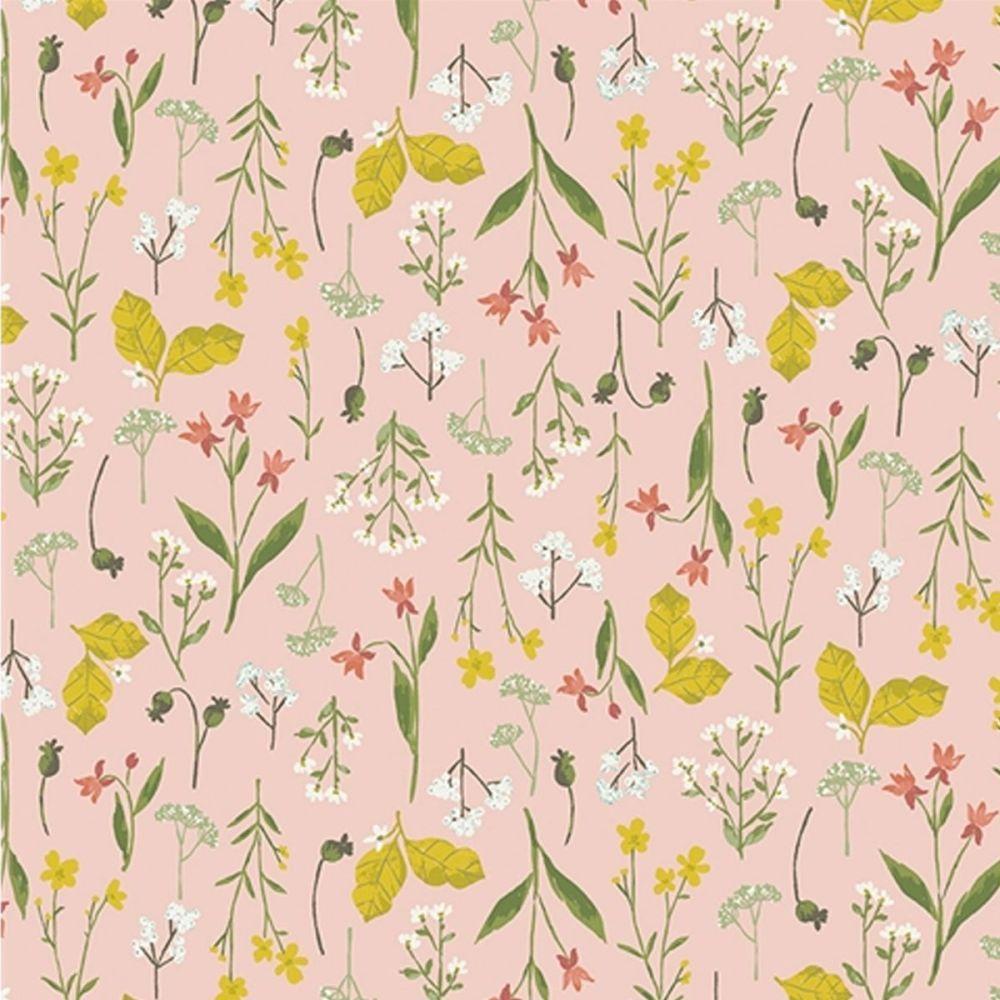 Riley Blake - Tea With Bea 100% Cotton Fabric - Blush Floral