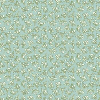 Riley Blake - Tea With Bea 100% Cotton Fabric - Sky Ditsy Floral