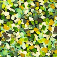 Robert Kaufman - Painterly Petals 100% Cotton Fabric - Olive Petals