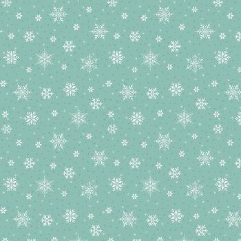 Riley Blake - Snowed In 100% Cotton Fabric - Glacier Snowflakes
