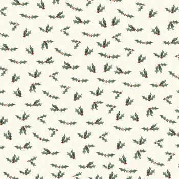 Riley Blake - Farmhouse Christmas 100% Cotton Fabric - Holly Berry Cream