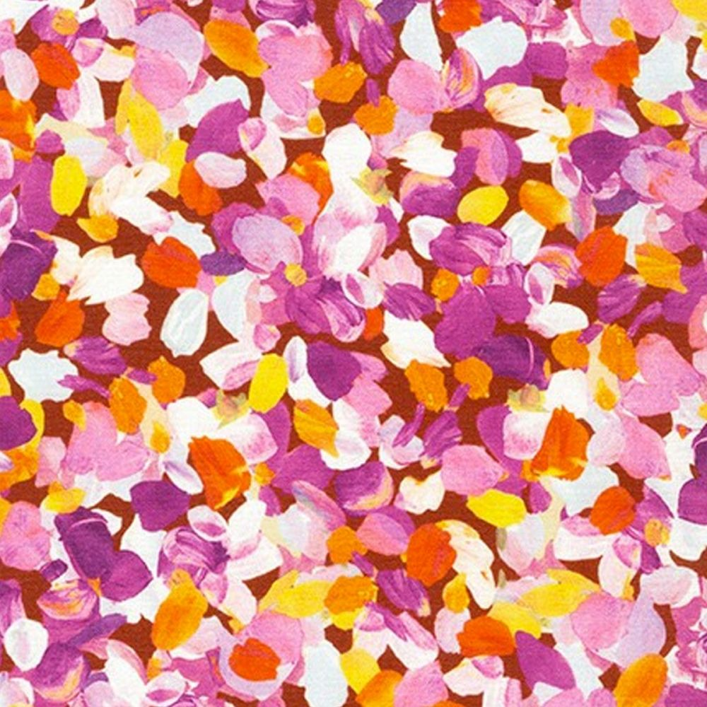 Robert Kaufman - Painterly Petals 100% Cotton Fabric - Summer Petals