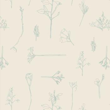 Art Gallery Fabrics - Vert Fusion 100% Cotton Fabric - Sonic Flora Vert