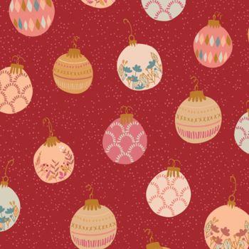 Art Gallery Fabrics - Cozy & Magical 100% Cotton Fabric - Deck The Halls