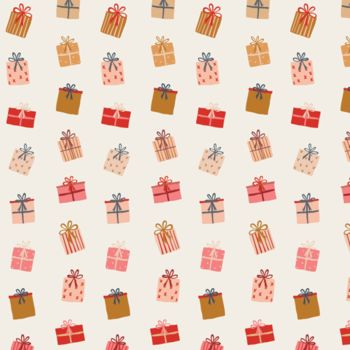 Art Gallery Fabrics - Cozy & Magical 100% Cotton Fabric - Gift of Giving