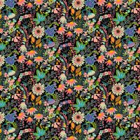 Windham - Paradiso 100% Cotton Fabric - Flower Bed Black