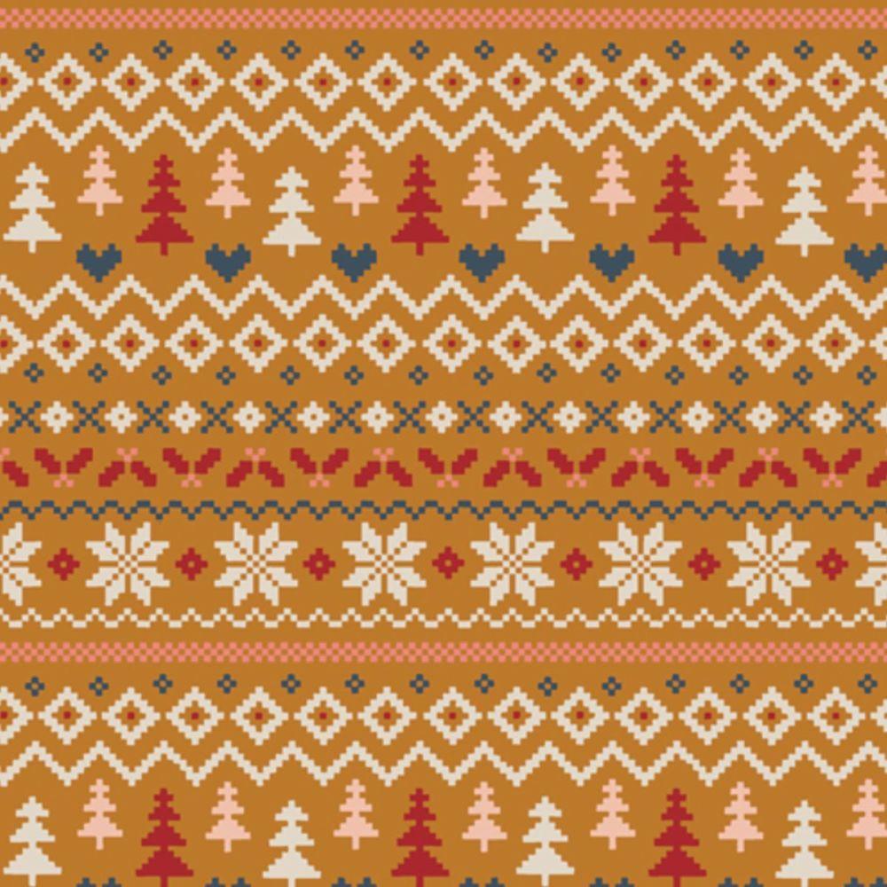 Art Gallery Fabrics - Cozy & Magical 100% Cotton Fabric - Warm & Cozy Caram