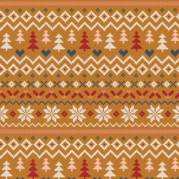 Art Gallery Fabrics - Cozy & Magical 100% Cotton Fabric - Warm & Cozy Caramel