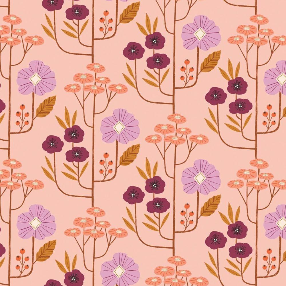 Dashwood Studios - Wild 100% Cotton Fabric - Floral Pink