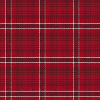 Clothworks - Yuletide 100% Cotton Fabric - Red Tartan Plaid