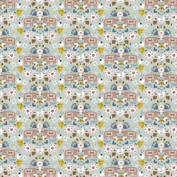 Dashwood Studios - Nordiska 100% Cotton Fabric - Green Bears