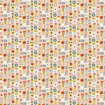 Dashwood Studios - Nordiska 100% Cotton Fabric - Cream Floral