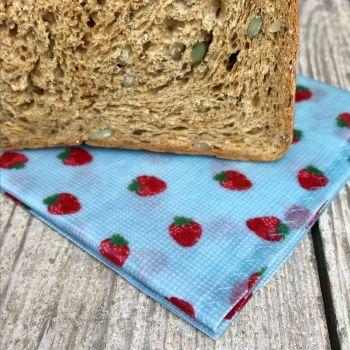 Bread Bag - Strawberries - Blue
