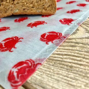 Bread Bag - Crabs - Grey