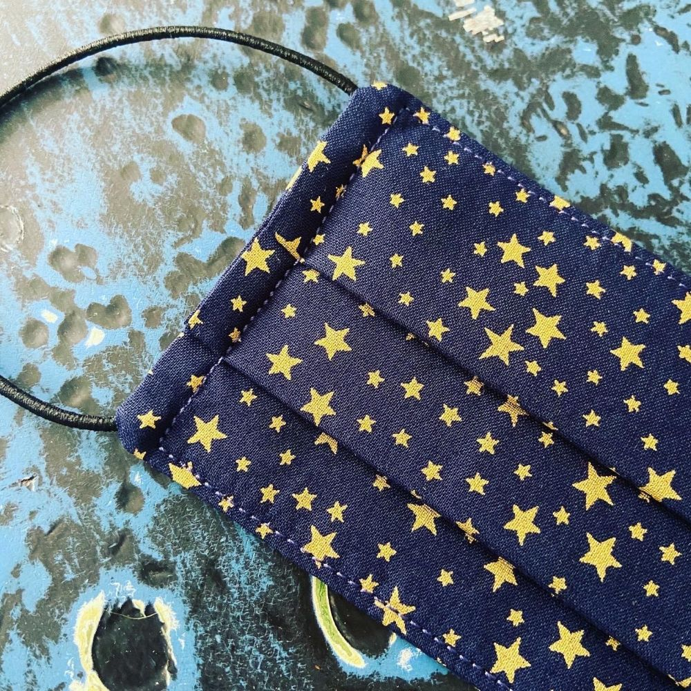 Reusable Face Mask - Navy Stars