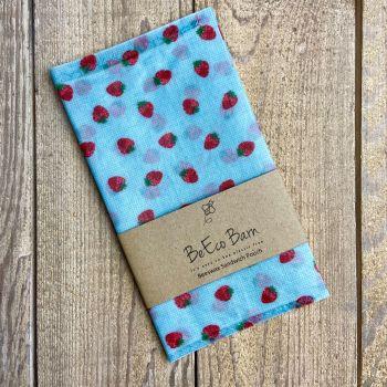 Sandwich Pouch - Blue Strawberry