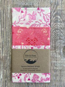 3 Square Wraps - Koi - white/pink/white