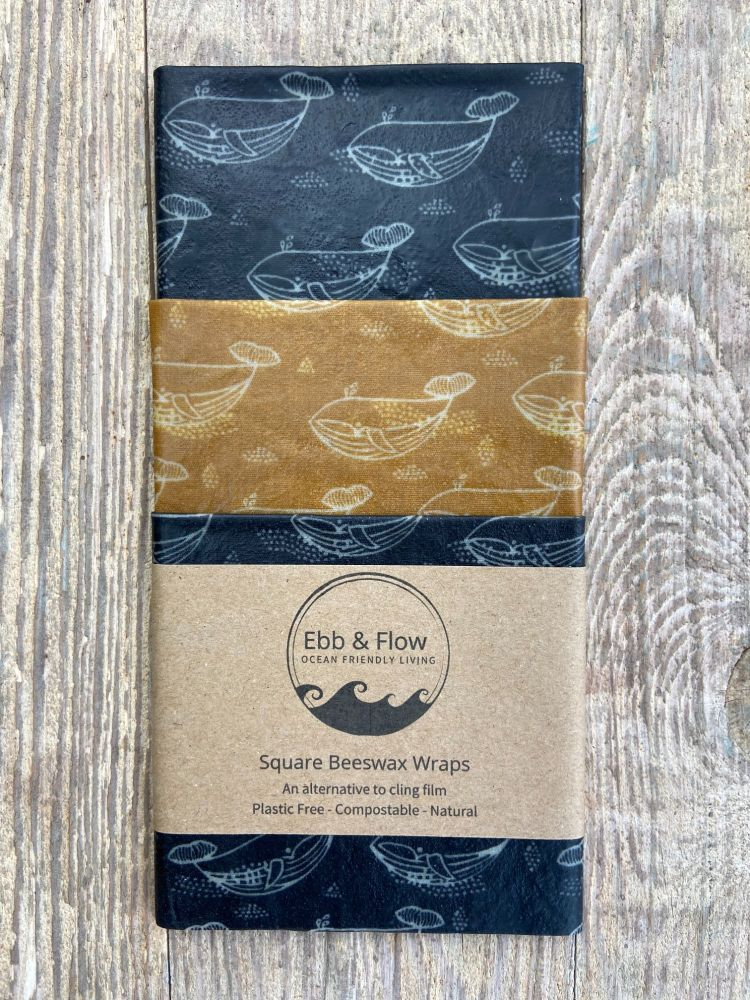 3 Square Wraps - Humpback Whale - Grey/mustard