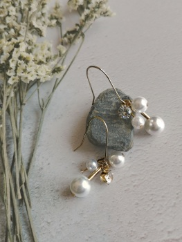 Mother of Pearl Multi Dropper Earrings by Emi Jewellery
