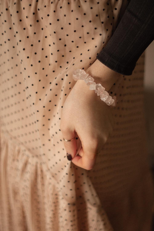 925 Sterling Silver Rose Quartz Crystal Rock Statement Bracelet