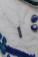 925 Sterling Silver & Lazurite Pendant Necklace