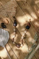 Extra Long Length Summer Wooden Necklace