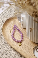Amethyst Stone Crystal Bracelet with Detail