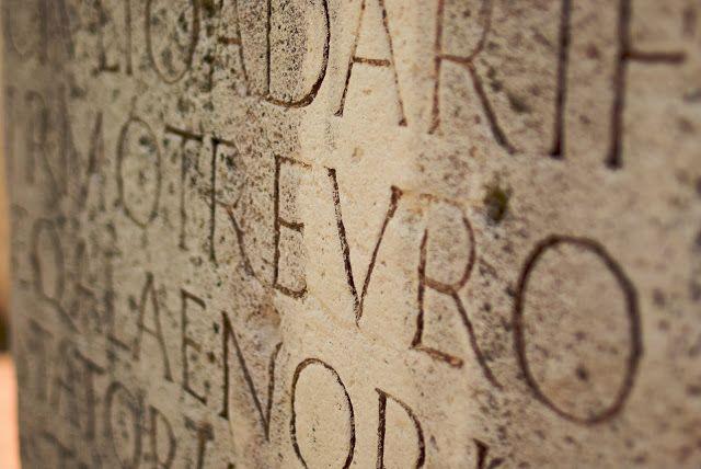 latin on a stone