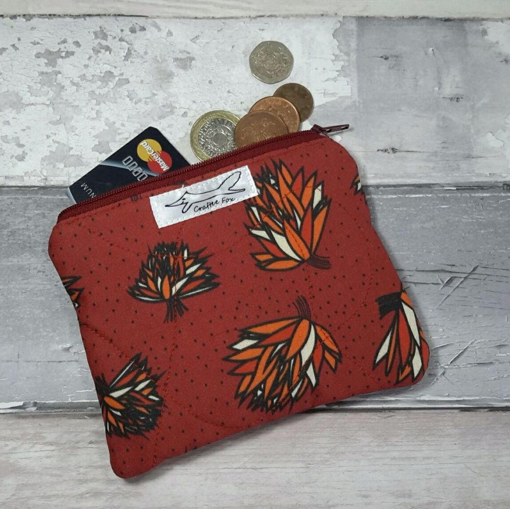 Rust red Chive purse