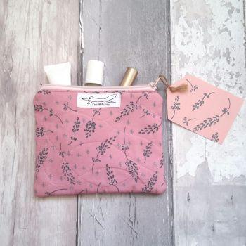 Dusky Pink Lavender design purse