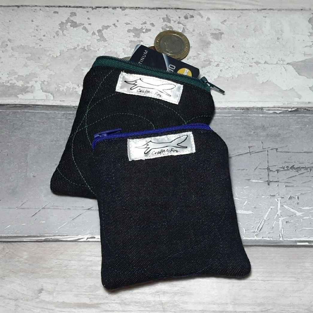 Organic mini black pouch