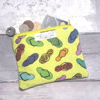 Yellow flip flop purse
