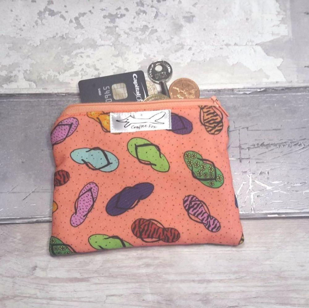 Coral flip flop purse