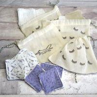 10 Lavender design cosmetic pads