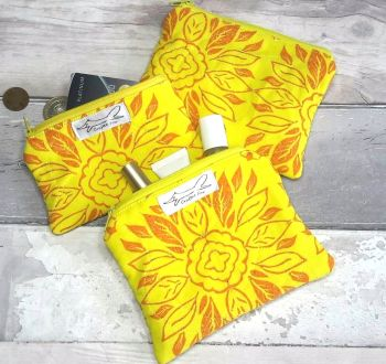 Yellow tile purse
