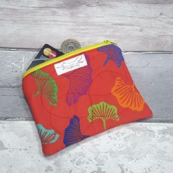 Rainbow Gingko purse