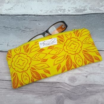 Yellow Tile rectangle pouch