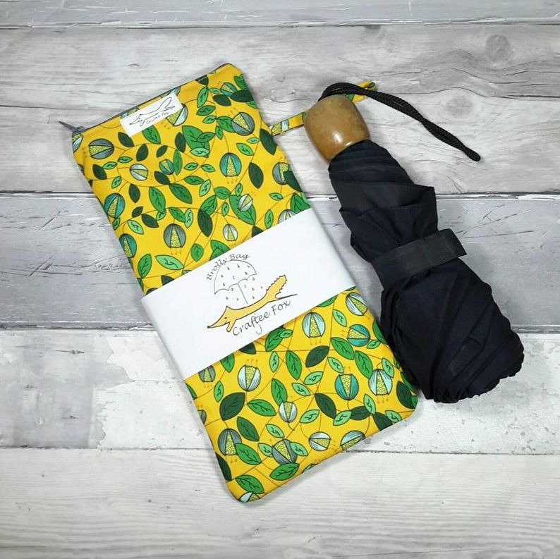 Yellow Vine Brolly Bag