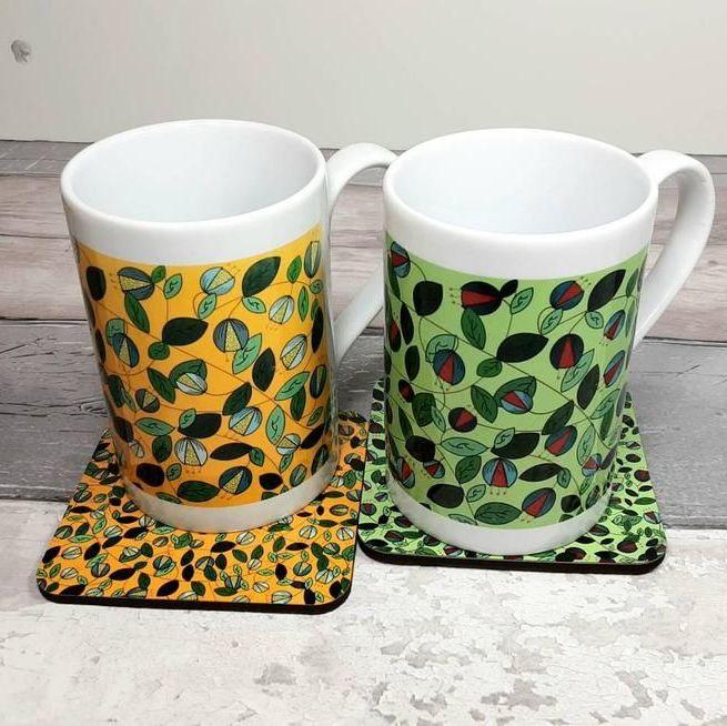 Porcelain Mugs and coasters