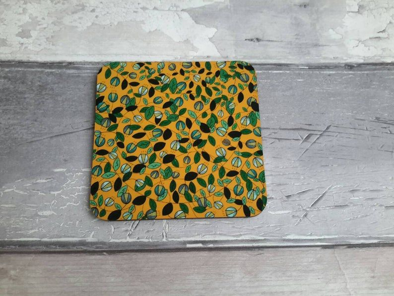 Yellow Vine Coaster
