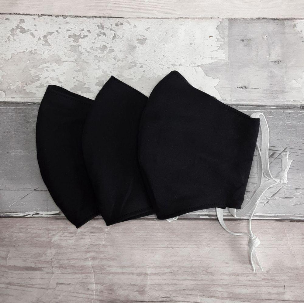Black cotton face mask