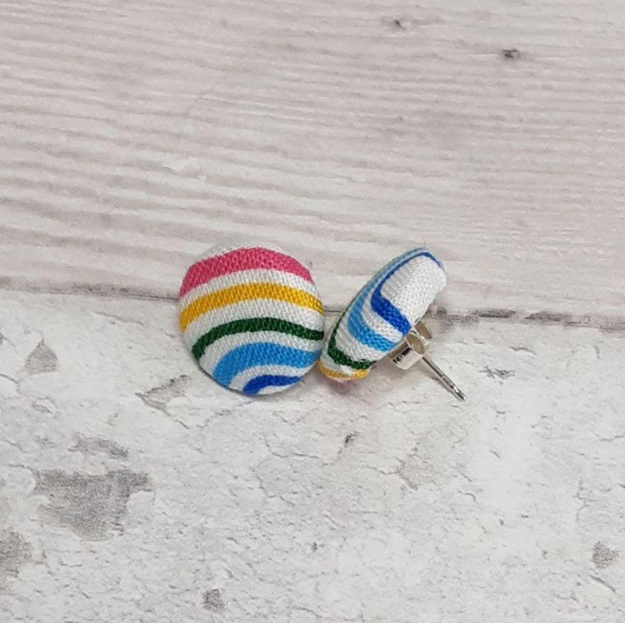 Button fabric earrings