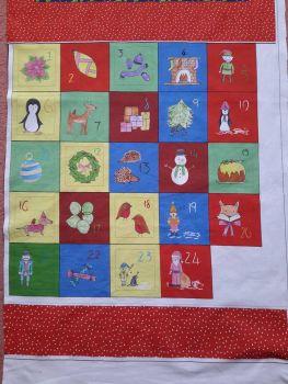 Christmas Advent calendar panel - make your own