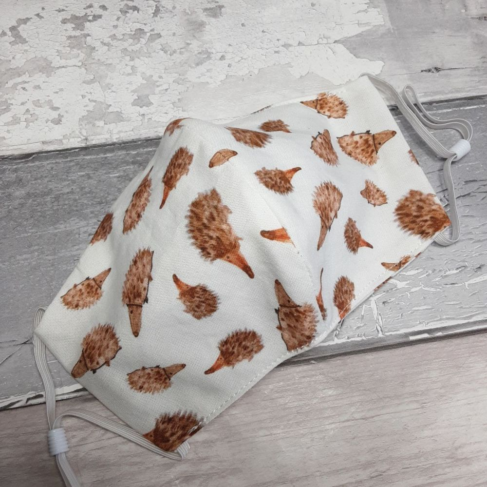 Hedgehog fabric face covering