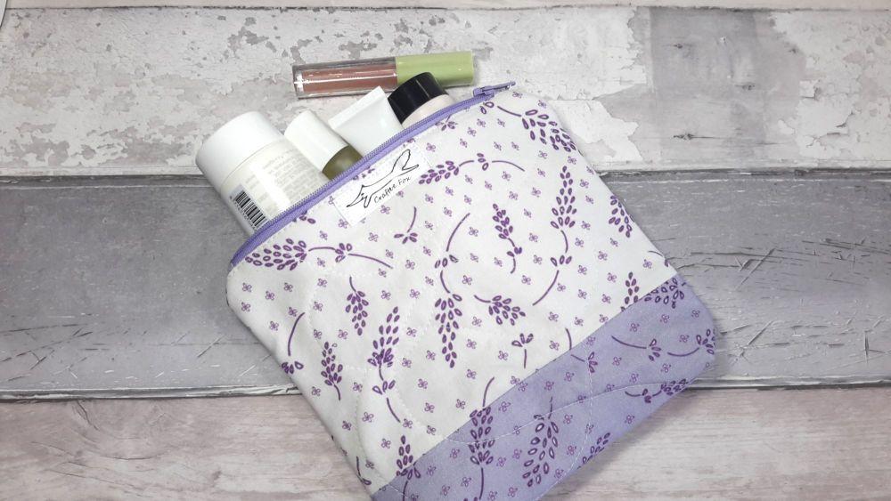 Lavender spray make up bag