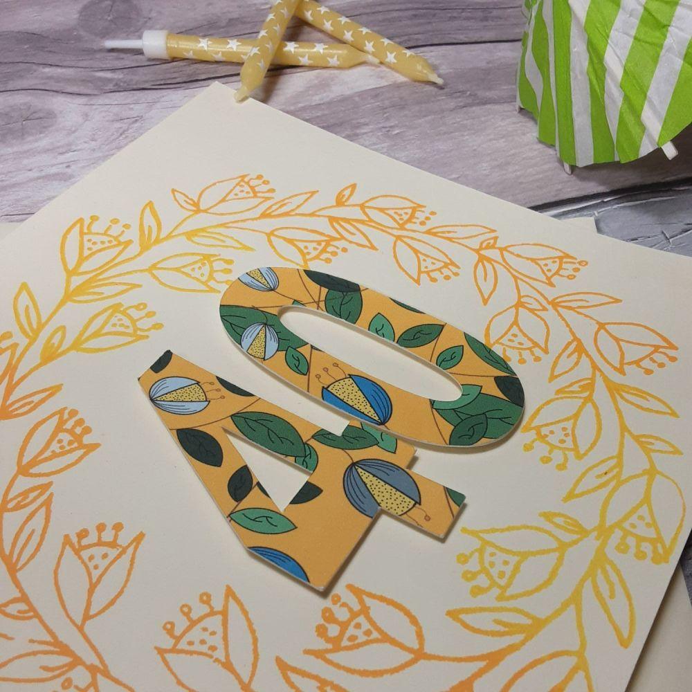 Handmade birthday card for any age