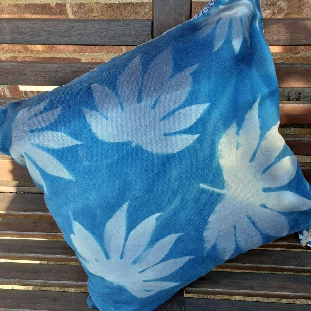 Cyanotype cushion cover