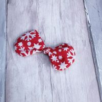Christmas red snowflake hairbow slide