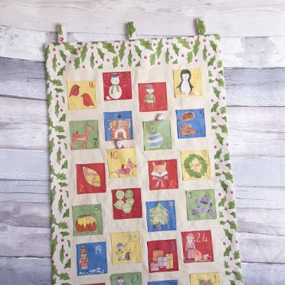 Organic cotton personalised Christmas advent calendar